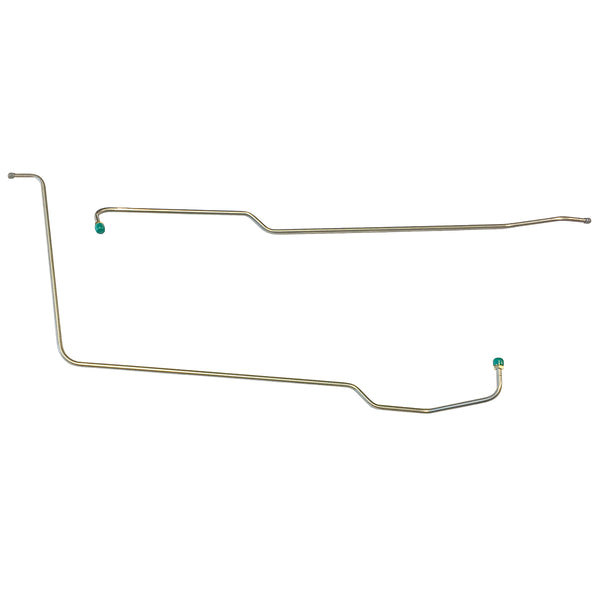 "1963-64 Pontiac Grand Prix Roto Hydramatic (With Fittings at Trans End) 3/8"" Trans Cooler Lines 2pc, Stainless"