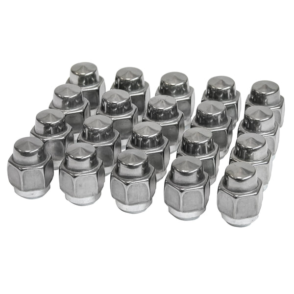 1969-72 Oldsmobile Stainless Capper Lug Nut for SSII & SSIII Wheels, 20pc