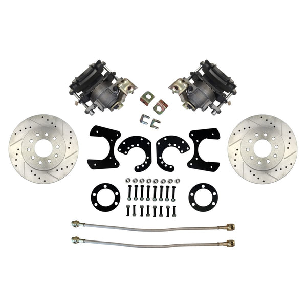 Mopar Rear Disc Conversion Kit w/Cross-Driller and Slotted Rotors w/E-Brake  Cable Brackets (Cables Sold Separately)