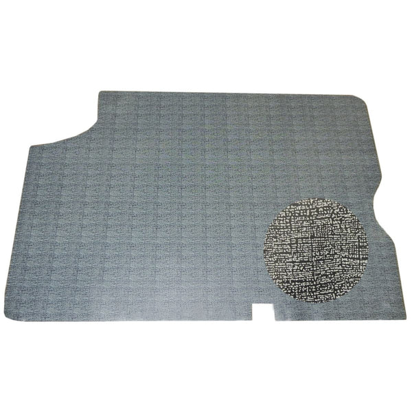 1964-65 Chevrolet Chevelle Trunk Mat Vinyl Gray And Black Crowsfoot Pattern Felt Backing 1pc