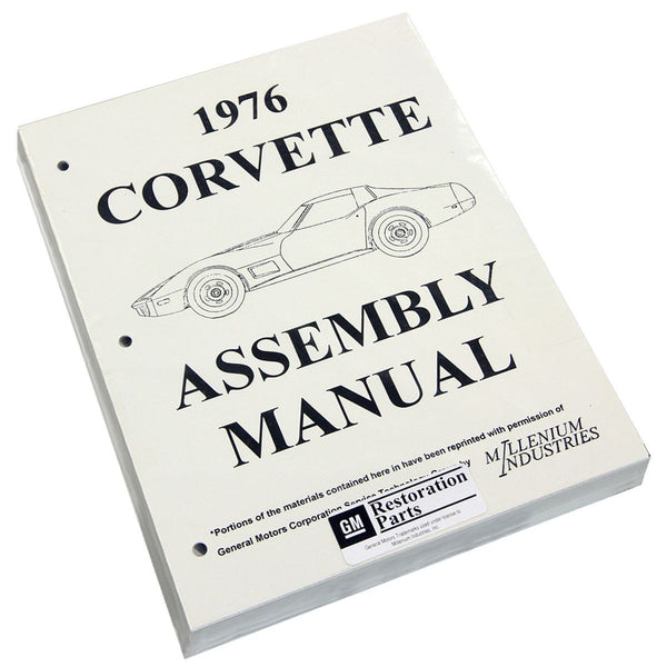 1976 Chevrolet Corvette Factory Assembly Manual