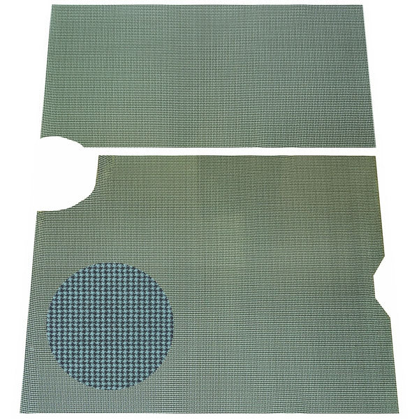 1964-66 Pontiac GTO, Lemans, Tempest Printed Vinyl Rubber Backed Trunk Mat, 2pc Aqua Houndstooth