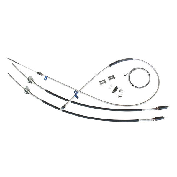 1969-72 Chevrolet GMC Truck 3/4 ton, 4wd, Longbed Complete Parking Brake Cable Kit, Stainless