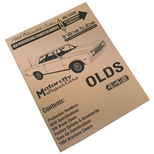 1964 Oldsmobile Cutlass OEM Specifications/Production Numbers Booklet