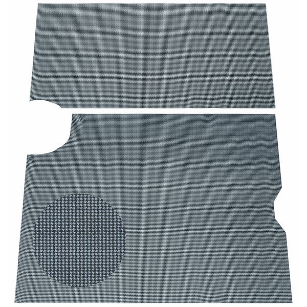 1964-66 Pontiac GTO, Lemans, Tempest Printed Vinyl Rubber Backed Trunk Mat 2pc, Grey Houndstooth