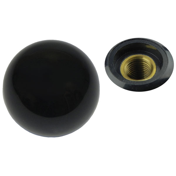 Black Hurst Gear Shift Knob. Fine thread no letters.