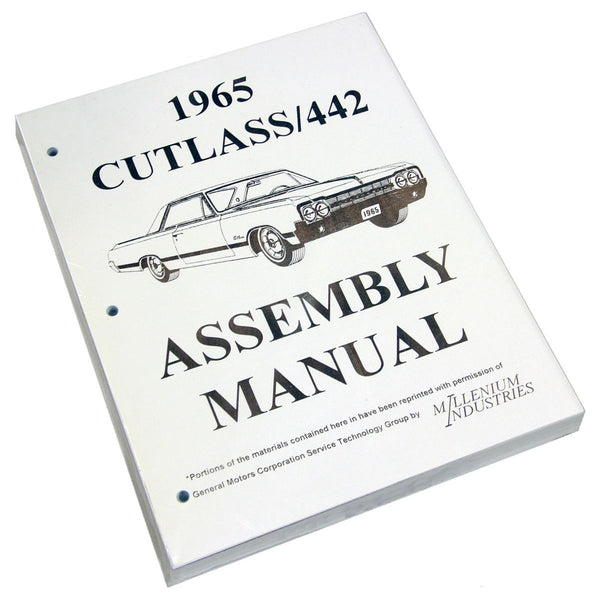 Factory Assembly Manual 1965 Cutlass