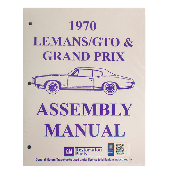 1970 Pontiac Lemans GTO Factory Assembly Manual
