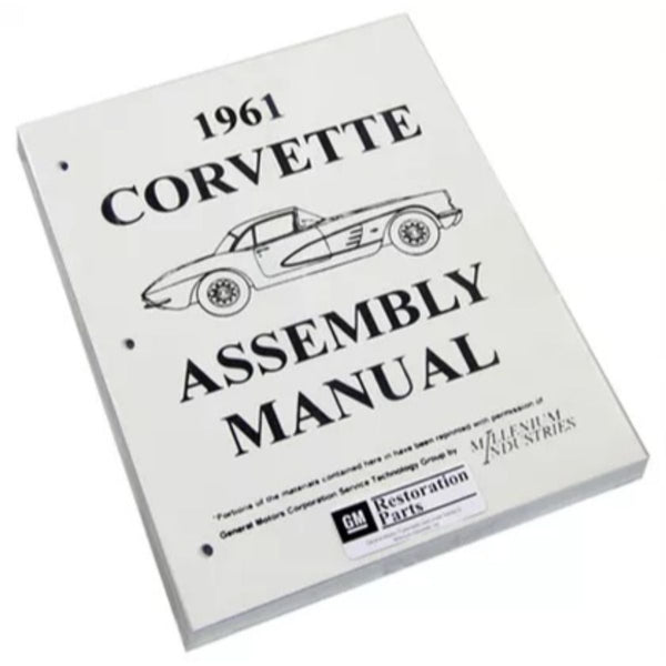 1961 Chevrolet Corvette Factory Assembly Manual