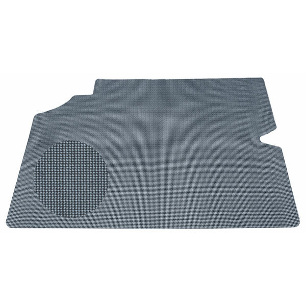 1968 Pontiac GTO, Lemans, Tempest Printed Vinyl Rubber Backed Trunk Mat, 1pc Grey Houndstooth