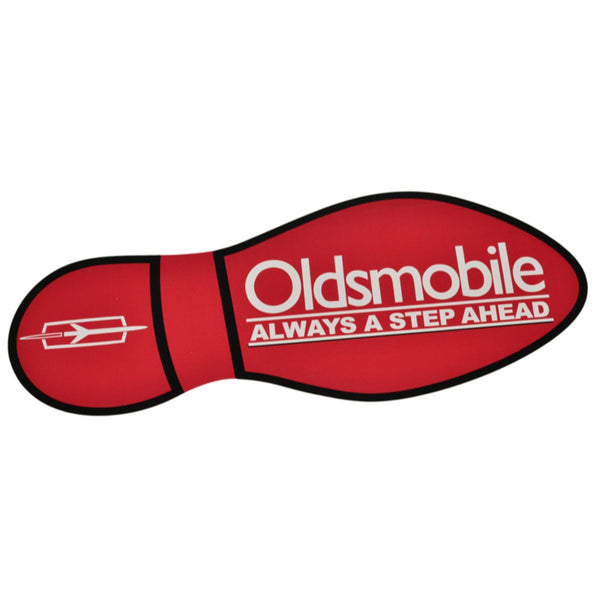 Oldsmobile Sticker Foot Print Red Left 1pc