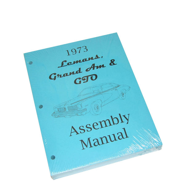 1973 Pontiac GTO Grand Prix Factory Assembly Manual