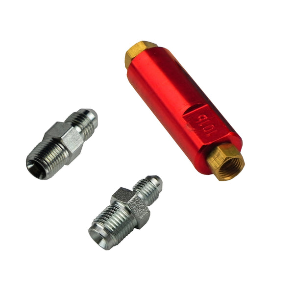 10 psi Residual Valve for Drum Brakes (3-AN Male Fittings)