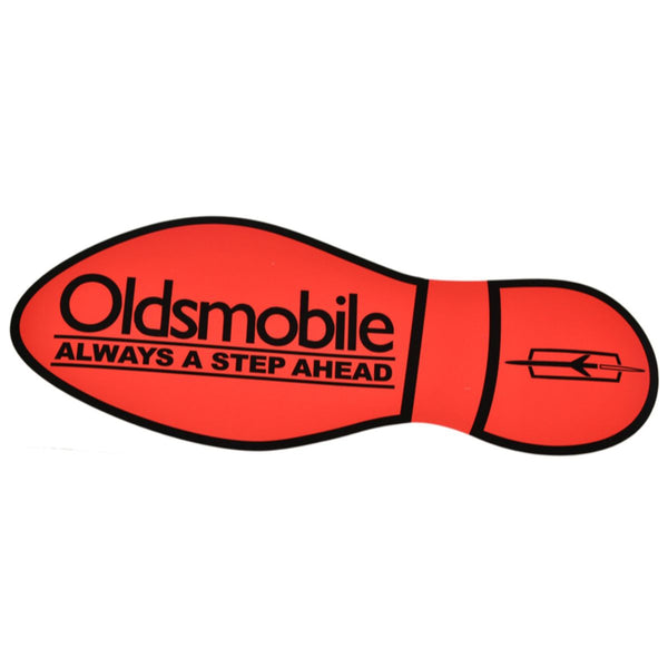 Oldsmobile Sticker Foot Print Orange Right 1pc