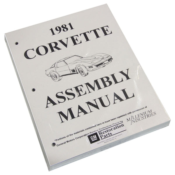 Factory Assembly Manual 1981 Corvette