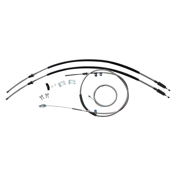 1969-72 Chevrolet GMC Truck 1/2 ton, 4wd, Longbed Complete Parking Brake Cable Kit, OE Steel
