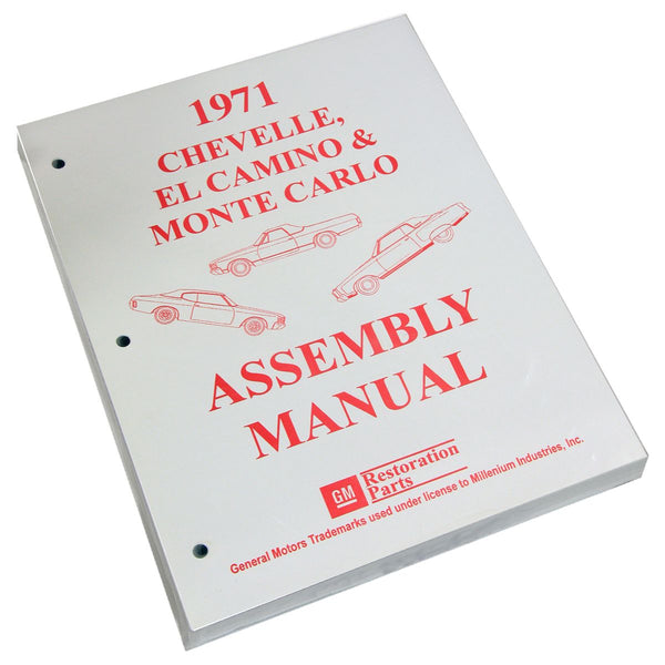 1971 Chevrolet Chevelle El Camino Factory Assembly Manual