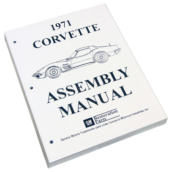 1971 Chevrolet Corvette Factory Assembly Manual