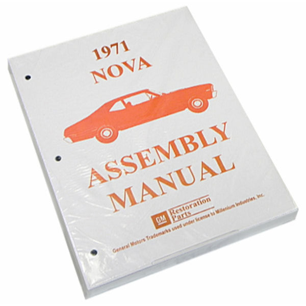 1971 Chevrolet Nova Chevy II Factory Assembly Manual