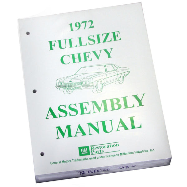 1972 Chevrolet Full Size Car Factory Assembly Manual