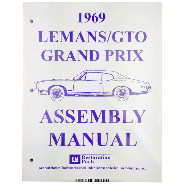 1969 Pontiac Lemans GTO Factory Assembly Manual