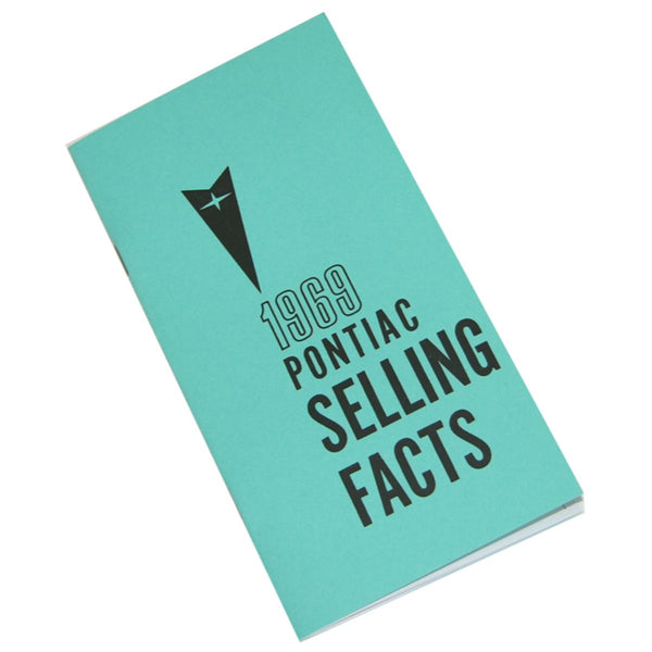 1969 Pontiac (All Models) Selling Facts Booklet 1pc