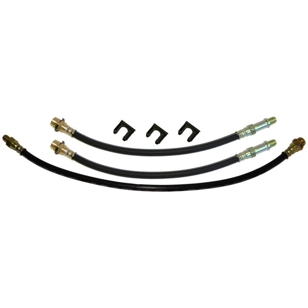 1962-63 Buick Special Front Drum / Rear Drum 3 hose Kit. This is for cars with factory drum brakes. 6pc