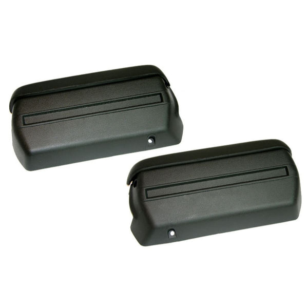 1968-72 GM A-Body Front Arm Rest Base & Pads Kit, 2 Bases, 2 Pads- Black