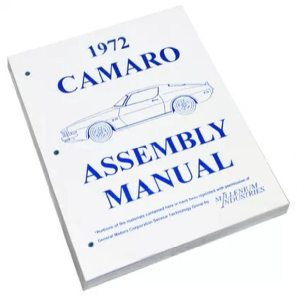 1972 Chevrolet Camaro Factory Assembly Manual