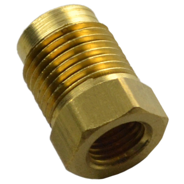 "Brass Adapter Male 9/16""-20 to Female 3/8""-24"