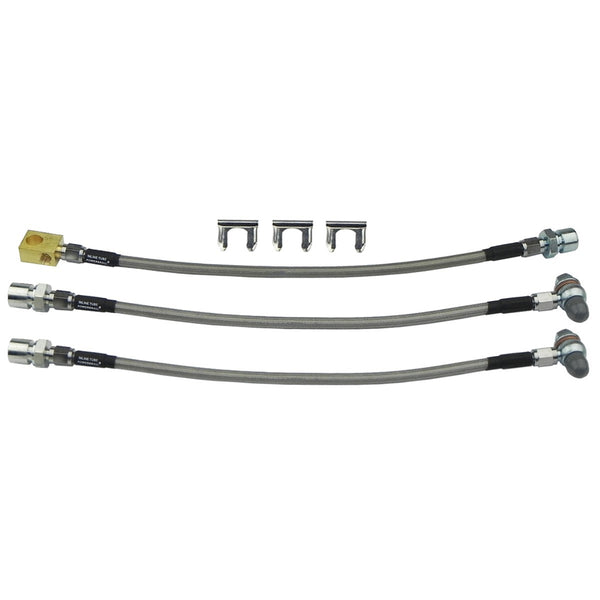 1969-72 Buick A-Body 3pc Stainless Brake Hose Kit Front Disc Brakes