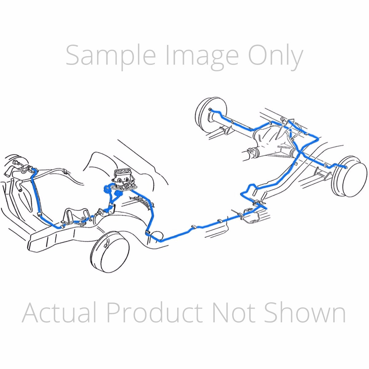 1968 69 Buick Riviera Power Drum Complete Brake Line Kit Stainless Inline Tube