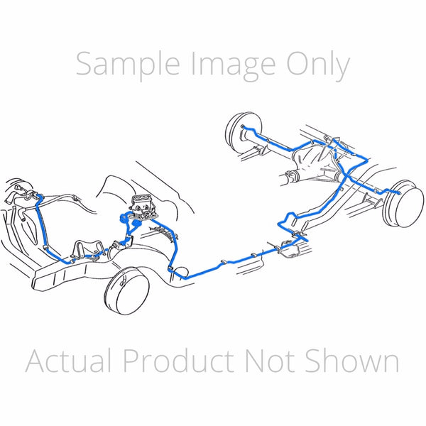 "1970 Ford Mustang Power Drum Brake Line Kit 8pc, 8"" Rear Axle, OE"