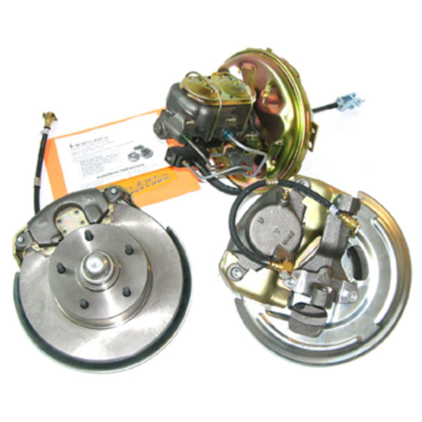 1968 Chevrolet Camaro Single Piston Power Disc Brake Conversion With Factory Valves