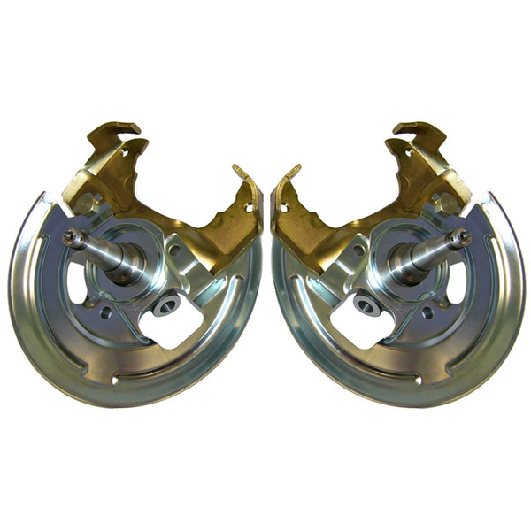 Disc Brake Spindles - Caliper Bracket and Backing Plate, Pair - For Single Piston Calipers, 64-72 A-Body, 67-69 F-Body,