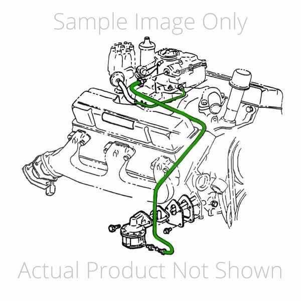 1941-42 Cadillac V8 (Bottom Left Fuel/Vacuum Pump to Manifold) Vacuum Line 1pc, Stainless