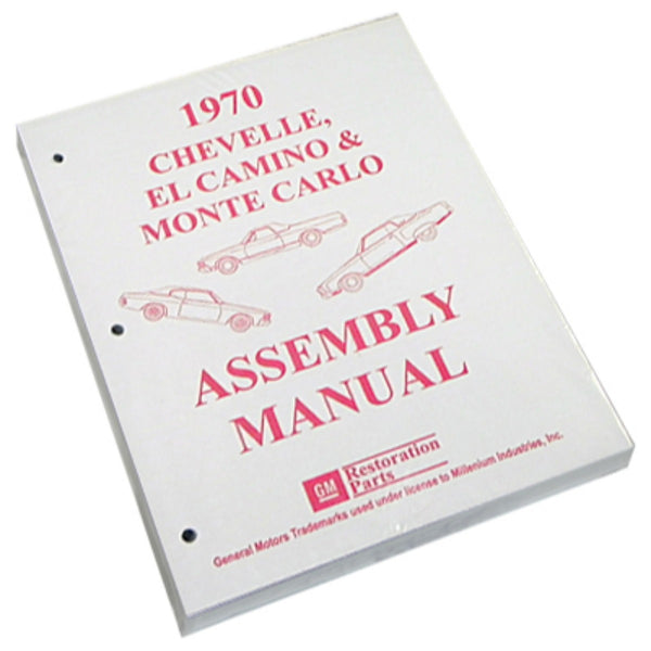 1970 Chevrolet Chevelle El Camino Factory Assembly Manual