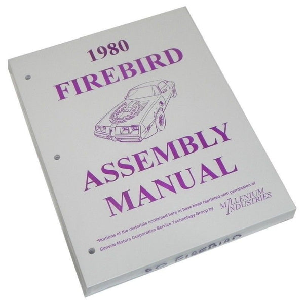 1980 Pontiac Firebird Factory Assembly Manual