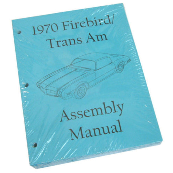 1970 Pontiac Firebird Trans Am Factory Assembly Manual