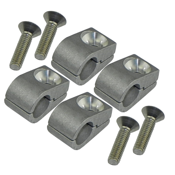"3/8"" Billet Line Clamps 4pc"