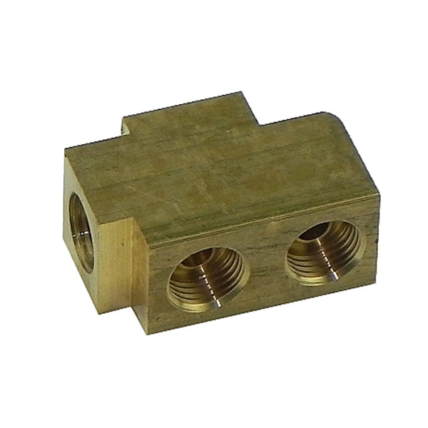 1959-63 Pontiac (All Models) Tri-Power Carb Lines Connector Special Brass Block