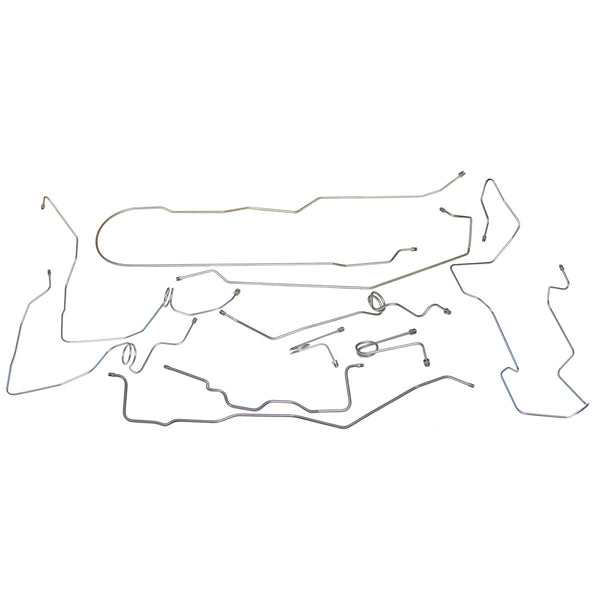 1995-99 Chevrolet GMC Suburban 4WD 3/4-Ton Power Disc Brake Line Kit 10pc, Stainless
