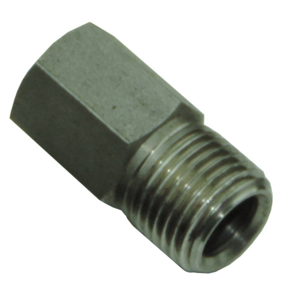 "Tube Nut 7/16""-24 for 1/4"" Tube w/ Long Hex, Stainless"