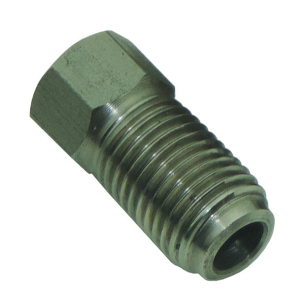 "Tube Nut 3/8""-24 Long Thread, 3/8"" Short Hex for 3/16"" Tube, Stainless"