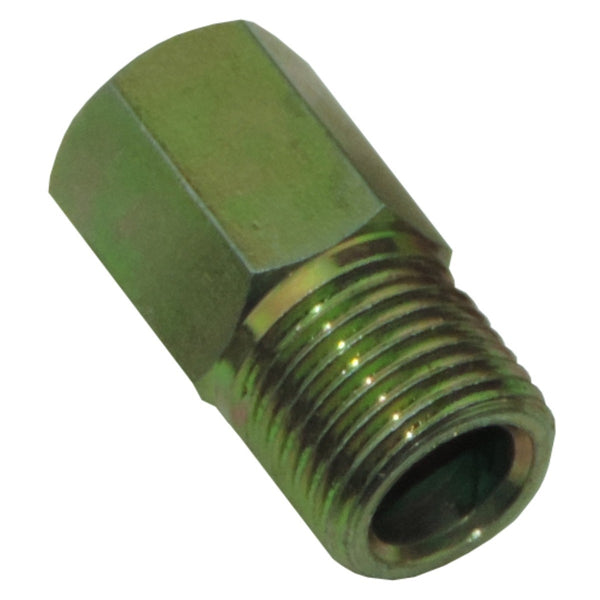 "Tube Nut 7/16""-24 Thread, 7/16"" Long Hex for 1/4"" Tube, Gold"