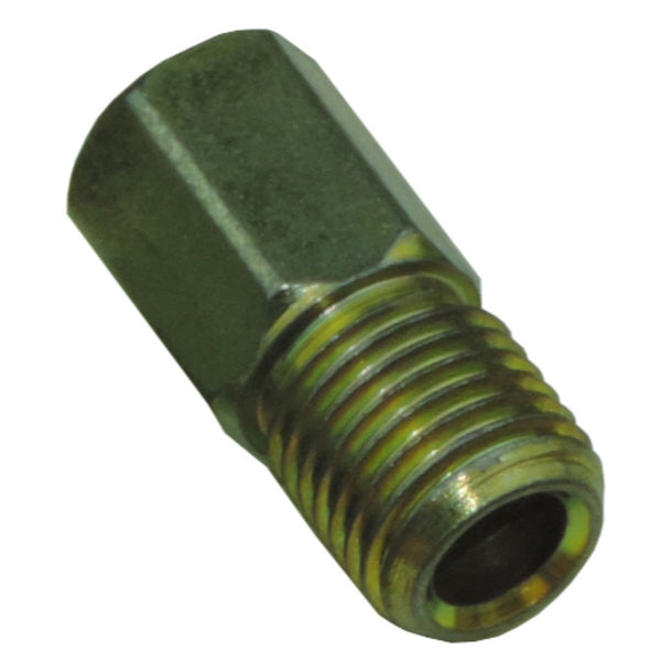 "Tube Nut 3/8""-24, 3/8"" Long Hex for 3/16"" Tube, Gold"