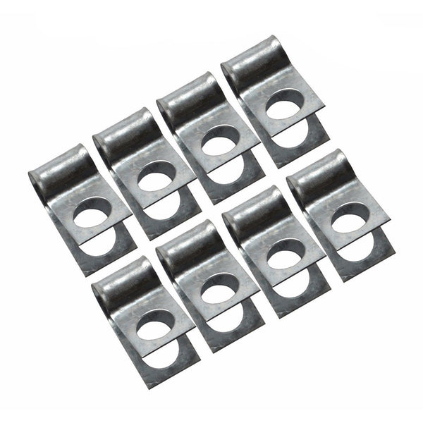 "1/2"" Single R Style Clips, 8 Pack"