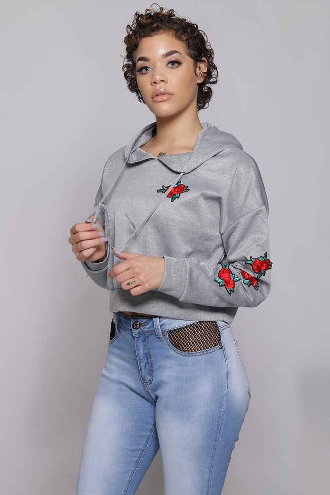 Flower hooded sweater