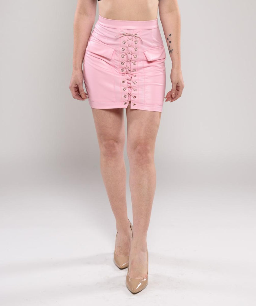 Rolly Lace up skirt