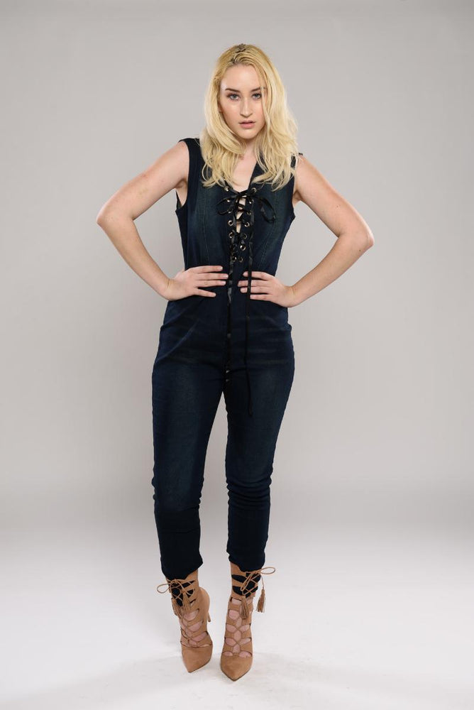 Kayla denim Jumpsuit